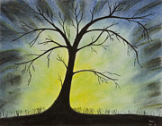 Tree Print Pastels Framed Prints - The Tree Framed Print by Sean Mitchell