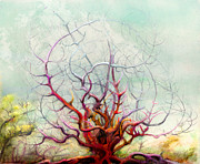 Mystical Landscape Mixed Media Posters - The Tree That Want Poster by Bjorn Eek