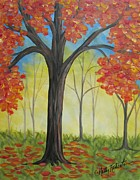 Fall Scene Posters - The Trees Poster by Molly Roberts
