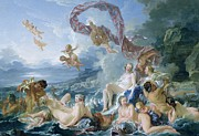 Goddess Of Love Prints - The Triumph of Venus Print by Francois Boucher