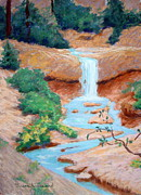 Southern Utah Painting Framed Prints - The Tropic Ditch Framed Print by Susan Woodward