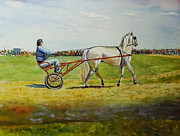 Horse And Buggy Painting Posters - The Trotter Poster by John Pirnak