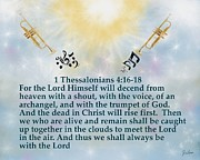 Thessalonians Prints - The Trumpet Sounds Print by Zelma Hensel