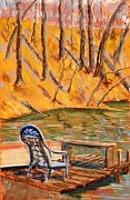 Chair Pastels Metal Prints - The Trysting Place Metal Print by Tim  Swagerle