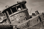 Tugs Framed Prints - The Tug Framed Print by JC Findley
