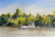 Ohio River Painting Posters - The Tug John A Yager Poster by Todd Derr