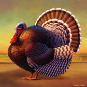 Folk Prints Posters - The Turkey Poster by Robin Moline