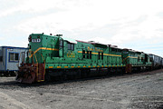 Diesel Locomotives Prints - The Twins Print by Craig Bass