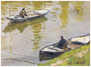 Anglers Framed Prints - The Two Anglers Framed Print by Claude Monet