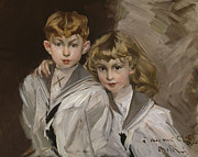 The Two Children Print by Giovanni Boldini
