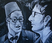 Eleventh Doctor Framed Prints - The Two Doctors Framed Print by Lisa Leeman