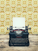 Metal Sheet Prints - The typewriter Print by Martin Bergsma