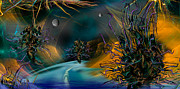 Fractal Worlds Prints - The Uber...night Passage Print by Phil Sadler