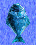 Schools Digital Art Metal Prints - The Ugly Fish 20130723mup180 Metal Print by Wingsdomain Art and Photography