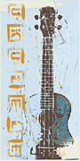 Distressed Mixed Media - The Ukulele by Brenny Moore