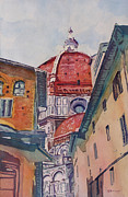 Dome Painting Originals - The Ultimate Alley View by Jenny Armitage