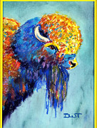 Fanciful Pastels Metal Prints - The Ultimate Buffalo Metal Print by Diana Tripp