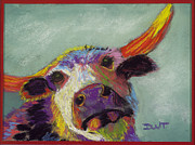 Fanciful Pastels Metal Prints - The Ultimate Cow Metal Print by Diana Tripp
