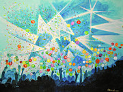 Jam Bands Paintings - The Um Party by Patricia Arroyo