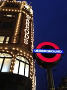 Jennifer Lamanca Kaufman Prints - The Underground and Harrods in London Print by Jennifer Lamanca Kaufman
