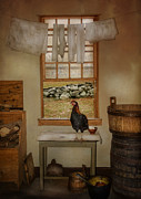 Rooster Art - The Unexpected Guest by Robin-lee Vieira