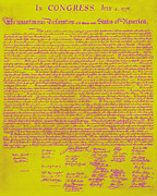 Thomas Jefferson Prints - The United States Declaration of Independence 20130215m68 Print by Wingsdomain Art and Photography