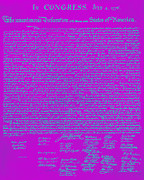 Thomas Jefferson Prints - The United States Declaration of Independence 20130215p168 Print by Wingsdomain Art and Photography
