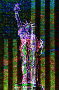4th July Metal Prints - The United States of America 20130115 Metal Print by Wingsdomain Art and Photography