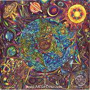 the UNIVERSE mandala Print by DiNo