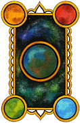 Nora Blansett Painting Framed Prints - The Universe Framed Print by Nora Blansett