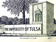 Canas Framed Prints - The University of Tulsa Framed Print by Frederic Kohli