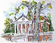 The University Of Virginia Rotunda Print by Robert Holewinski