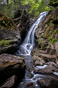 Litchfield Hills Prints - The Upper Cascades of Campbell Falls Print by Thomas Schoeller