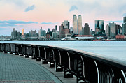 Jogging Framed Prints - The Upper West Side Framed Print by JC Findley