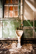 Abandoned Building Prints - The Urinal Print by Gary Heller