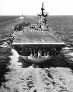 Korean War Photos - The U.s. Aircraft Carrier Uss Boxer by Stocktrek Images