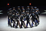 Featured Art - The U.s. Army Drill Team Performs by Stocktrek Images