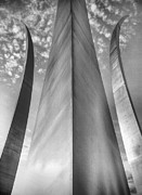 Usaf Metal Prints - The USAF Memorial in Black and White Metal Print by JC Findley