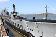 Alcatraz Photos - The USS Pampanito Submarine At Fishermans Wharf . San Francisco California . 7D14417 by Wingsdomain Art and Photography