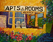 Window Signs Paintings - The Vacancy by Peggy Johnson