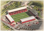 Athletic Paintings - The Valley - Charlton Athletic by Kevin Fletcher