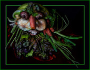 Asparagus Digital Art - The Vegetarian Peasant by Ellie Schartner