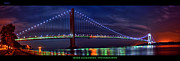 Beauty Mark Framed Prints - The Verrazano Narrows Bridge Framed Print by Mark Alexander