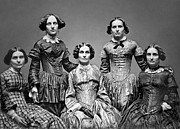 Nineteenth Century Art - THE VICTORIAN CLARK SISTERS c. 1850 by Daniel Hagerman