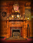 Old Home Place Posters - The Victorian Fireplace Poster by Lee Dos Santos