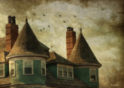 Old Houses Metal Prints - The Victorian Metal Print by Fran J Scott