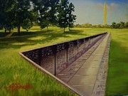 Ohio Pastels Prints - The Vietnam War Memorial Print by Darren McGrath