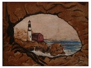Ocean Tapestries - Textiles Metal Prints - The View Metal Print by Bonnie Nash