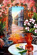 The View From A Courtyard Print by Diane Millsap