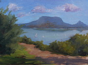 Balaton Paintings - The View of Badacsony by Viktoria K Majestic